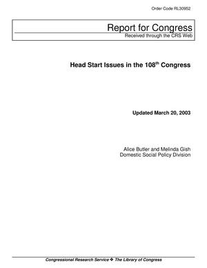 Primary view of object titled 'Head Start Issues in the 108th Congress'.