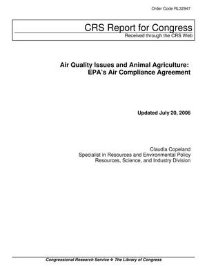 Primary view of object titled 'Air Quality Issues and Animal Agriculture: EPA's Air Compliance Agreement'.