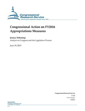 Primary view of object titled 'Congressional Action on FY2016 Appropriations Measures'.