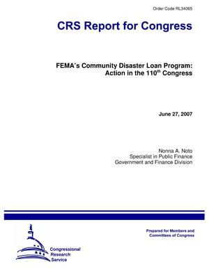Primary view of object titled 'FEMA's Community Disaster Loan Program: Action in the 110th Congress'.