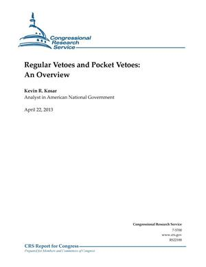 Primary view of object titled 'Regular Vetoes and Pocket Vetoes: An Overview'.