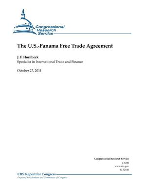 Primary view of object titled 'The U.S.-Panama Free Trade Agreement'.