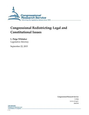 Primary view of object titled 'Congressional Redistricting: Legal and Constitutional Issues'.