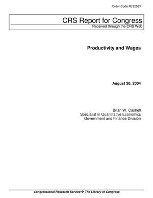 Primary view of object titled 'Productivity and Wages'.