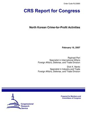 Primary view of object titled 'North Korean Crime-for-Profit Activities'.
