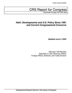 Primary view of object titled 'Haiti: Developments and U.S. Policy Since 1991 and Current Congressional Concerns'.