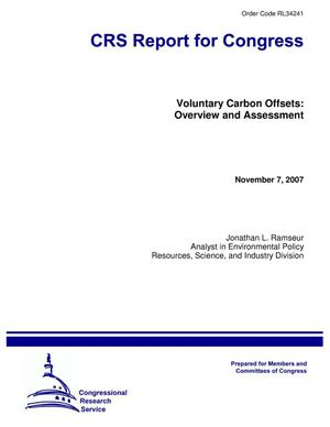 Primary view of object titled 'Voluntary Carbon Offsets: Overview and Assessment'.