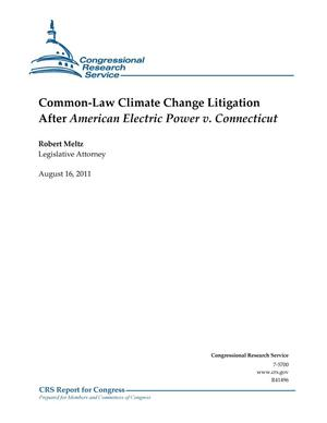 Primary view of object titled 'Common-Law Climate Change Litigation After American Electric Power v. Connecticut'.