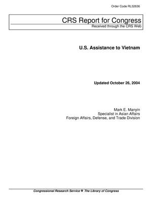 Primary view of object titled 'U.S. Assistance to Vietnam'.