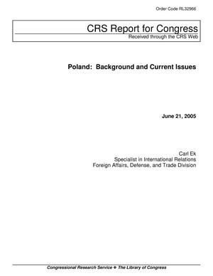Primary view of object titled 'Poland: Background and Current Issues'.
