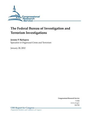 Primary view of object titled 'The Federal Bureau of Investigation and Terrorism Investigations'.