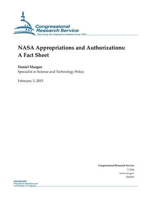 Primary view of object titled 'NASA Appropriations and Authorizations: A Fact Sheet'.