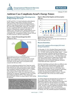 Primary view of object titled 'Antitrust Case Complicates Israel's Energy Future'.