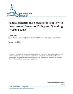 Primary view of object titled 'Federal Benefits and Services for People with Low Income: Programs, Policy, and Spending, FY2008-FY2009'.