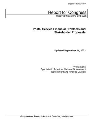 Primary view of object titled 'Postal Service Financial Problems and Stakeholder Proposals'.