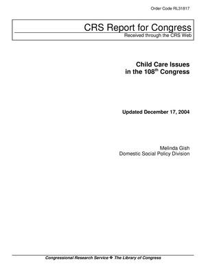 Primary view of object titled 'Child Care Issues in the 108th Congress'.