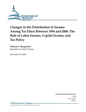 Primary view of object titled 'Changes in the Distribution of Income Among Tax Filers Between 1996 and 2006: The Role of Labor Income, Capital Income, and Tax Policy'.