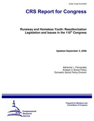 Primary view of object titled 'Runaway and Homeless Youth: Reauthorization Legislation and Issues in the 110th Congress'.