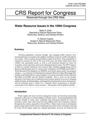 Primary view of object titled 'Water Resource Issues in the 109th Congress'.