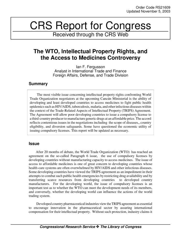 admin ipr and access to medicines