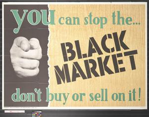 Primary view of object titled 'Newsmap : You can stop the--black market : don't buy or sell on it!'.