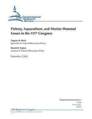 Primary view of object titled 'Fishery, Aquaculture, and Marine Mammal Issues in the 111th Congress'.