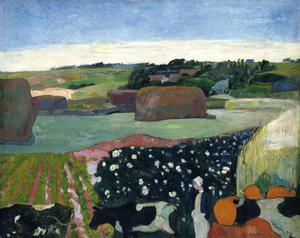 Primary view of object titled 'Haystacks in Brittany'.