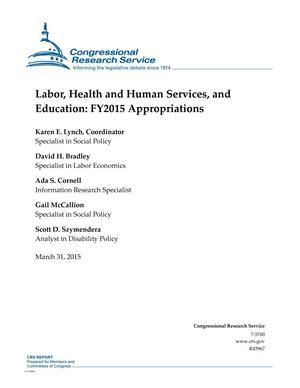 Primary view of object titled 'Labor, Health and Human Services, and Education: FY2015 Appropriations'.