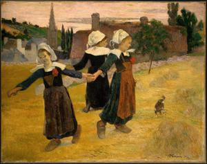 Primary view of object titled 'Breton Girls Dancing, Pont-Aven'.