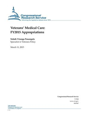 Primary view of object titled 'Veterans' Medical Care: FY2015 Appropriations'.