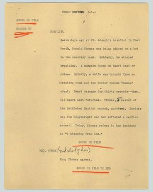 Primary view of object titled '[News Script:Negro revived]'.