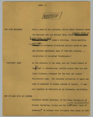 Primary view of object titled '[News Script: Gems]'.