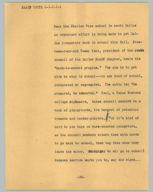 Primary view of object titled '[News Script: NAACP youth]'.