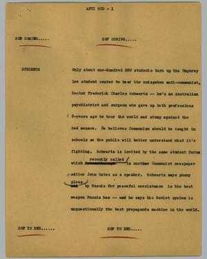 Primary view of object titled '[News Script: Anti red]'.