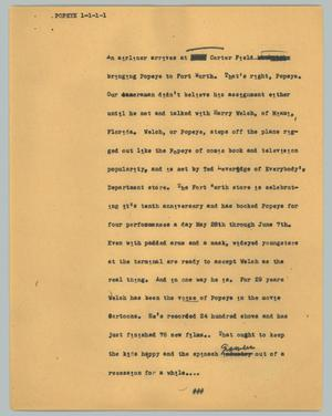 Primary view of object titled '[News Script: Popeye]'.