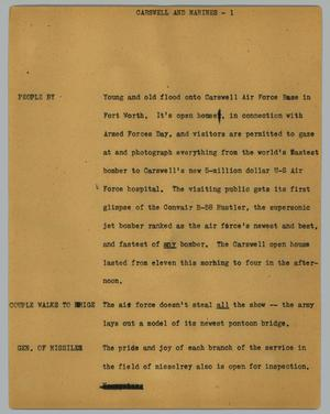 Primary view of object titled '[News Script: Carswell and Marines]'.