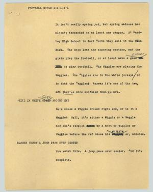 Primary view of object titled '[News Script: Football girls]'.