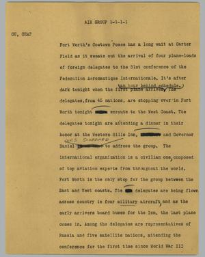 Primary view of object titled '[News Script: Air group]'.