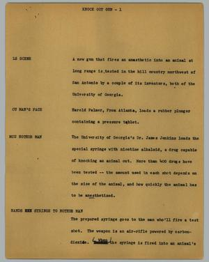 Primary view of object titled '[News Script: Knock out gun]'.