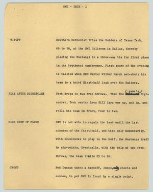 Primary view of object titled '[News Script: SMU - Tech]'.