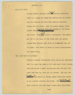 Primary view of object titled '[News Script: Shooter]'.