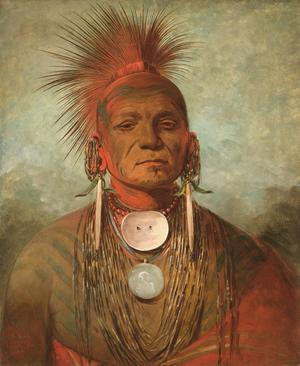 Primary view of See-non-ty-a, an Iowa Medicine Man