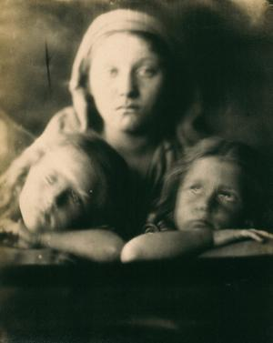 Mary Hillier and Two Children