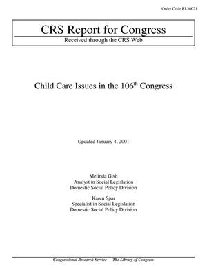 Primary view of object titled 'Child Care Issues in the 106th Congress'.