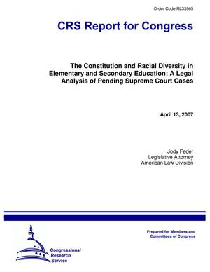 Primary view of object titled 'The Constitution and Racial Diversity in Elementary and Secondary Education: A Legal Analysis of Pending Supreme Court Cases'.