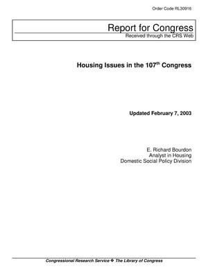 Primary view of object titled 'Housing Issues in the 107th Congress'.