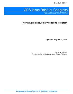 Primary view of object titled 'North Korea's Nuclear Weapons Program'.