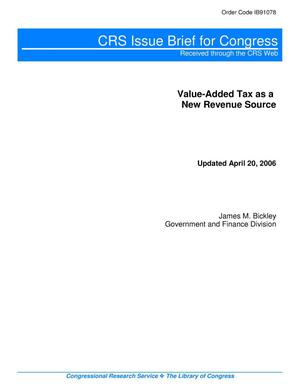 Primary view of object titled 'Value-Added Tax as a New Revenue Source'.