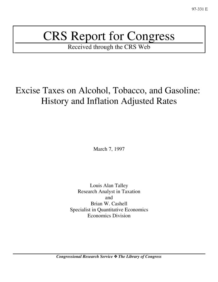 congressional research service tax report Congressional research service 7-5700 3 see crs report r41203, estate tax options, by jane g gravelle, for a discussion of the debate over exemptions and.