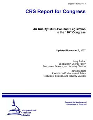 Primary view of object titled 'Air Quality: Multi-Pollutant Legislation in the 110th Congress'.